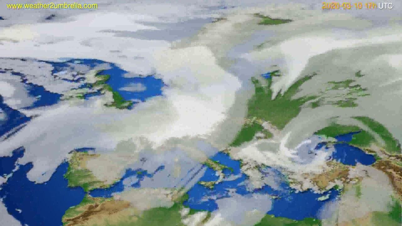 Cloud forecast Europe // modelrun: 12h UTC 2020-03-09