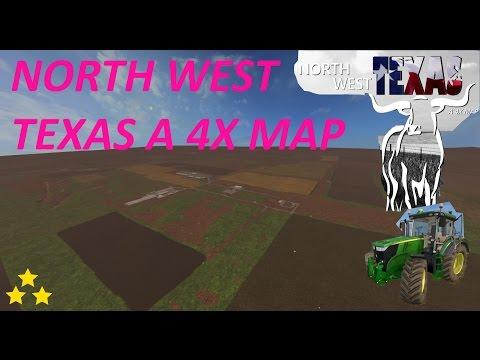 Map Vorstellung Farming Simulator Ls17:NORTH WEST TEXAS A  4-fach große Map