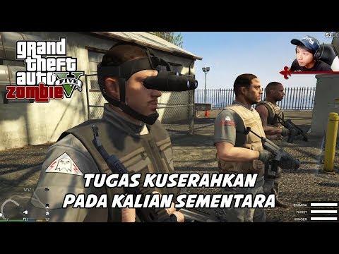 GTA 5 ZOMBIE SEASON 2   KONDISI YANG MENGHAWATIRKAN DI MARKAS PERTAMA - Part 44 (видео)