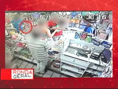 [RONDA GERAL] Câmera de segurança flagra assalto em farmácia do bairro de Campo Grande