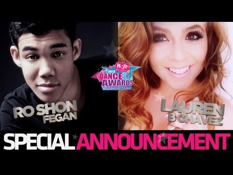 Roshon Fegan Special Announcement with Lauren B Chavez - 2013 KARtv Dance Awards