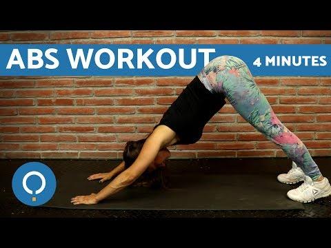 초보자을 위한 복부운동 - 4분 운동