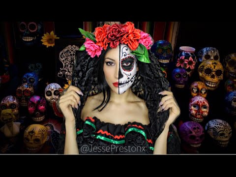 Day of the Dead- Sugar Skull Halloween Tutorial
