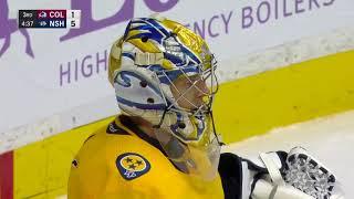 Первый гол Миронова в НХЛ