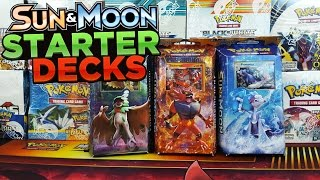 OPENING ALL 3 SUN AND MOON THEME DECKS OF POKEMON CARDS by ThePokeCapital