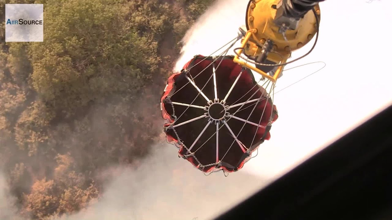 Bambi Bucket Water Drop, Aerial Firefighting – California Fires 2014 | AiirSource