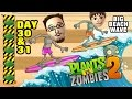 Lets Play Pvz 2: Big Wave Beach Day 30 31: Endangered G