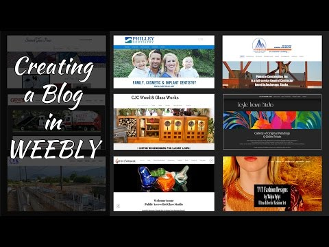 Creating a Blog in Weebly
