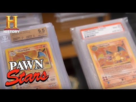 Dude with 10 Charizard Pokemon Cards goes on Pawn Stars