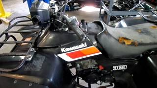 4. 1987 KAWASAKI BAYOU 300 2WD FOR SALE PARTING OUT ONLY!
