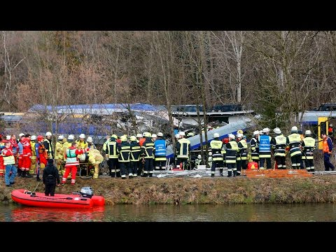 Two trains collided head-on in the southern German state of Bavaria on February 9, 2016.