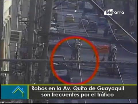 Robos en la Av. Quito de Guayaquil son frecuentes por le tráfico