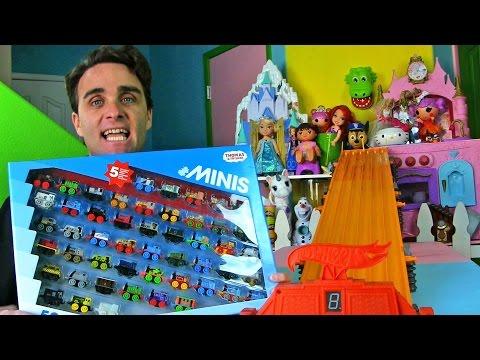 Thomas & Friends MINIS 50-Pack + Hot Wheels Super Six Lane Race ! ||  Toy Unboxing || Konas2002