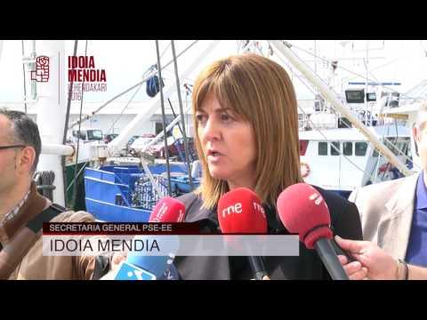 Idoia Mendia visita el puerto de Hondarribia y rechaza la Ley de Puertos de Urkullu [2016.05.18]