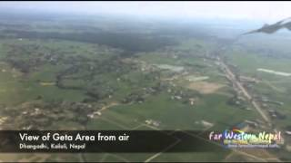 Kailali Nepal  city images : A View of Geta Area from air, Dhangadhi, Kailali, Nepal