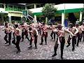 foto Atraksi Yel Yel Tongkat Semapur Dewan Penggalang SMP Negeri 1 Sokaraja