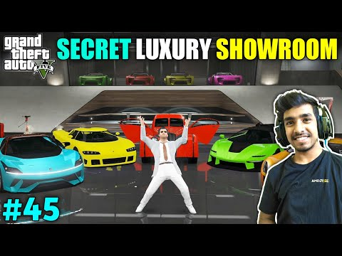 MY SECRET LUXURY CAR SHOWROOM | GTA V GAMEPLAY #45