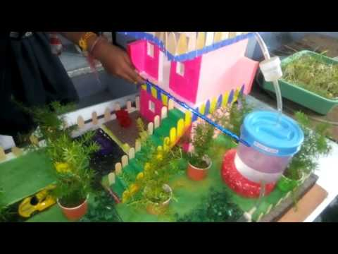 Science project ( Rain Water Harvesting ) Working model By V. Karthika, Indo American School