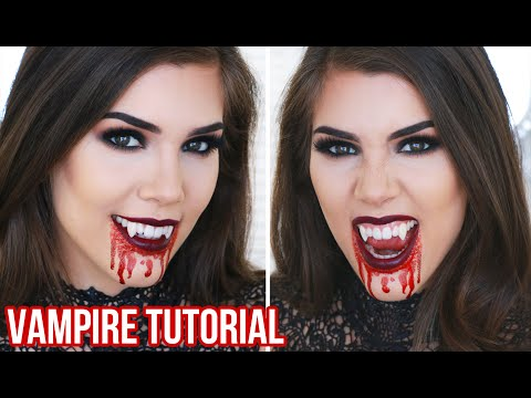 Sexy Vampire Halloween Makeup Tutorial | Quick, Easy and Cheap Halloween Costume Ideas!