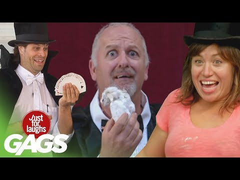 laughs - Don't miss another Gag - Subscribe!: http://goo.gl/wJxjG Do you like magic tricks? Well, we do! It's an excellent way to prank people. Here's our best magic tricks pranks! Can't click annotation...