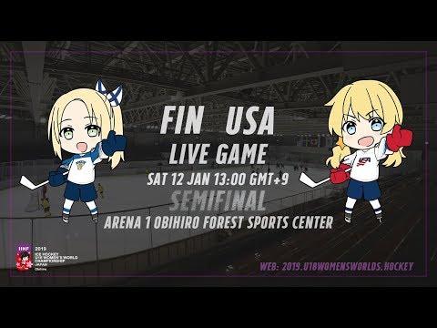 Live Stream USA vs. Finland - 2019 IIHF Ice Hockey U18 Women's World Championship