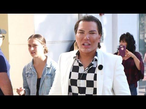 """Human Ken Doll"" Rodrigo Alves, Greeting Beverly Hills Fans"