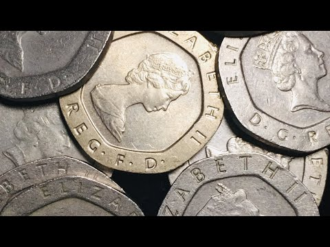 20P UK Great Britain -  Twenty Pence Coins Collection 1982 - 1999