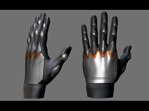 Creating Gloves for Characters in ZBrush