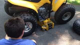 8. Inland ATV Honda TRX90 Polished Rims Tires Unboxing and Install
