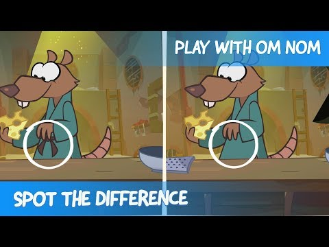 Spot the Difference - Om Nom Stories:  Lonely Warrior (Cut the Rope)