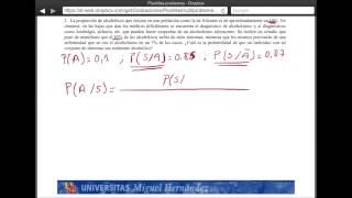 Umh2072 2013-14 Unidad 2 Conceptos De Probabilidad Y Test De Diagnóstico. Problema 2