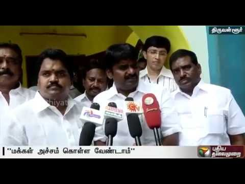 Viral-fever-Health-minister-inspects-Thiruvallur-govt-hospitals