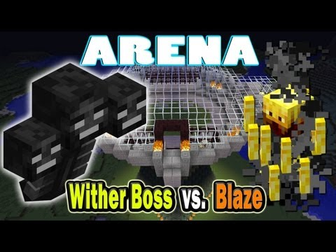 Minecraft Arena Battle Wither Boss vs. Blaze