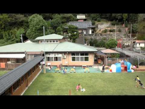 加津佐の若木保育園と温泉神社