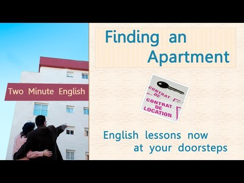 Finding an Apartment - Improve Your Communication Skills - English language lesson