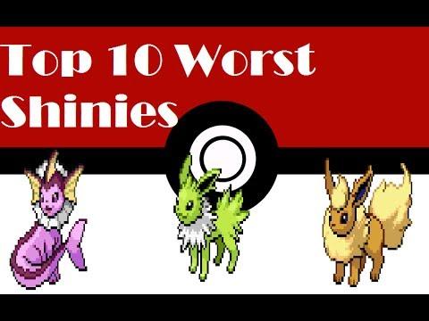 TOP 10 Worst Shiny Pokemon IMO видео