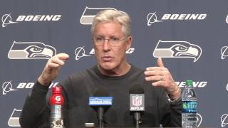 10. Seahawks Head Coach Pete Carroll End of Year Press Conference