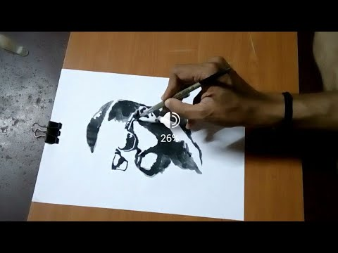 Video Hebbuli Sudeep| portrait B/W Art by| Charan Kumar Shettigar download in MP3, 3GP, MP4, WEBM, AVI, FLV January 2017