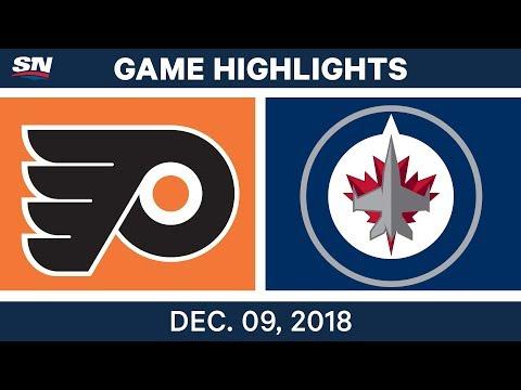 NHL Highlights | Flyers vs. Jets - Dec 9, 2018
