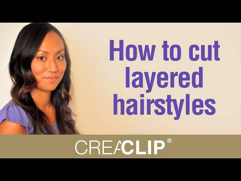 Cutting Layers at home – How to cut layered hairstyles
