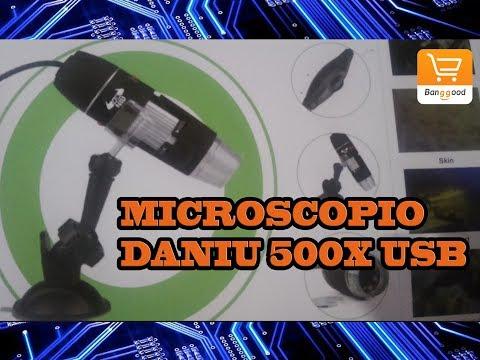 Daniu neues usb 8 led 500x 2mp digitales mikroskop endoskop lupe