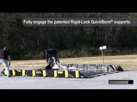 Justrite Rigid Lock QuickBerm Deployment