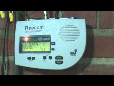 Statewide - THIS VIDEO HAS LOUD TONES - LOWER YOUR VOLUME AFTER THE SIRENS FINISH! ** This is the 2011 Statewide Tornado sequence of events on my Reecom R-1630 Weathe...
