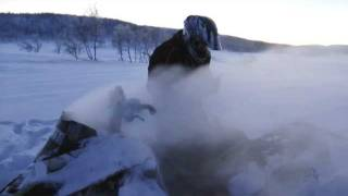 8. Arctic Cat ProClimb M1100 snowmobile on fire