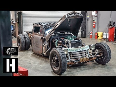 Homebuilt Turbo Diesel 1949 Ford Dually Hot Rod