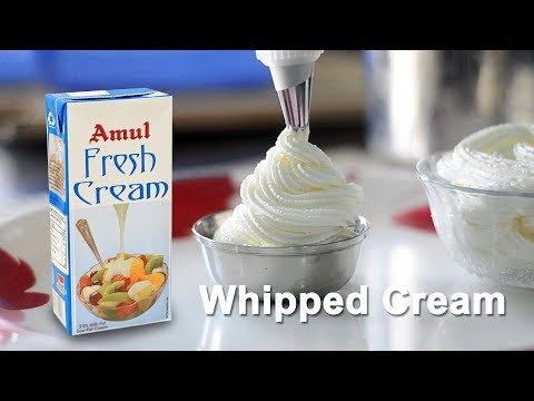 How To Make Whipped Cream From Low Fat Cream | How To Whip Cream