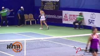 TENNIS PTT PATTAYA OPEN 2014 Chia+Luksika VS Varatchaya+Varunya 29 01 57 LOGO มติชน TV