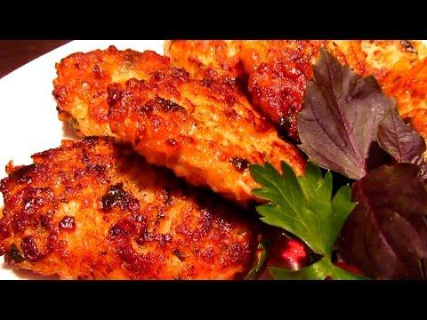 Куриные котлеты с сыром (сулугуни) и зеленью