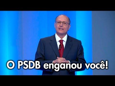 Água: O PSDB enganou você! Não se deixe enganar novamente!