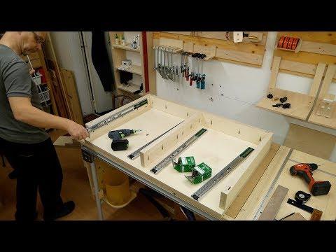 Cooler Couchtisch mit Schubladen,  selbst gemacht, Teil 2 - Anfertigung/Rohbau